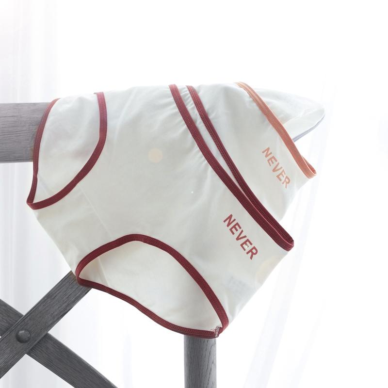 自留赞 ins简约低腰三角短裤少女纯棉内裤日系二次元学生予你N520