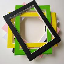 30张儿童纸画框单层裱儿童画挂墙简易画框4K8开a3a4卡纸简易画框