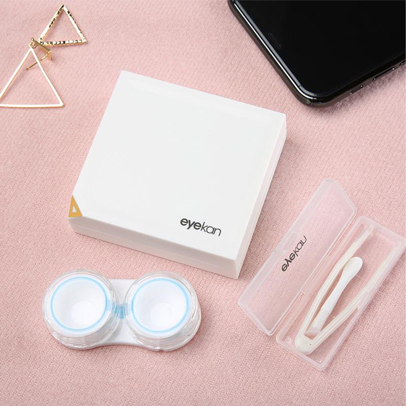 2019新品隐形近视眼镜盒磁吸感应伴侣盒美瞳时尚简约个性护理盒子