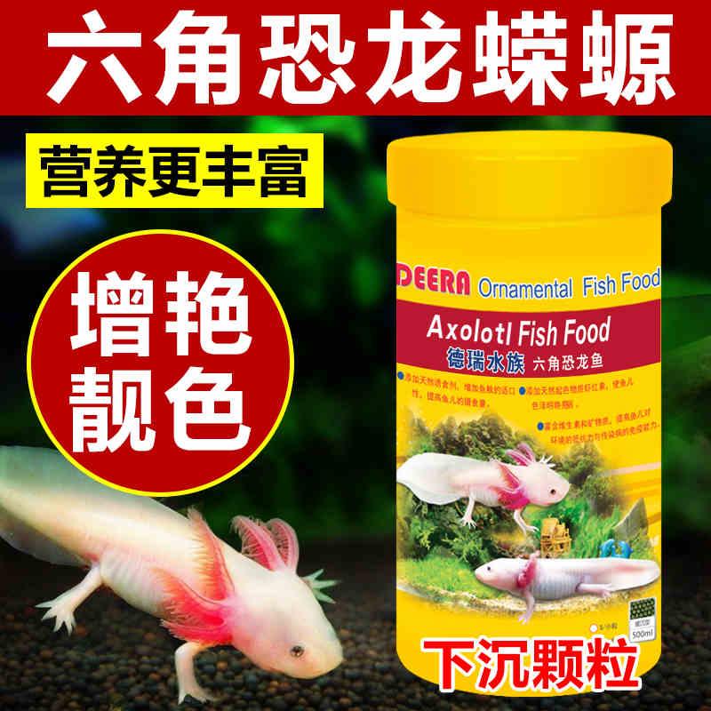 六角恐龙鱼饲料东方蝾螈鱼食专用六角龙鱼娃娃鱼粮下沉型