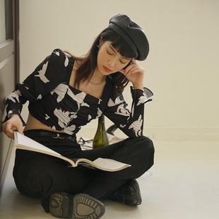 缩褶荷叶边袖口雪纺罩衫 21SS Moonlight Dreamer 原创独立设计