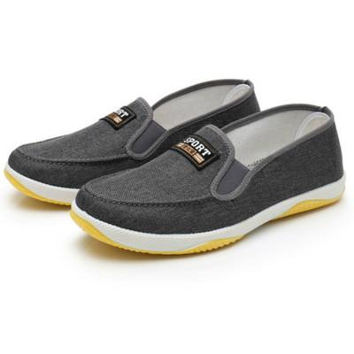 新款老北京男工作鞋一脚蹬休闲鞋