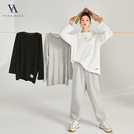 2020新品 下摆织唛标装饰 百搭 纯色长袖卫衣  XSS007494