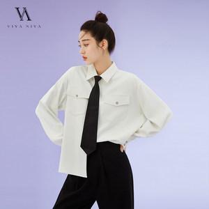 2020年新品  撞色扣子 inS潮简约衬衫 配领带 XSS007427