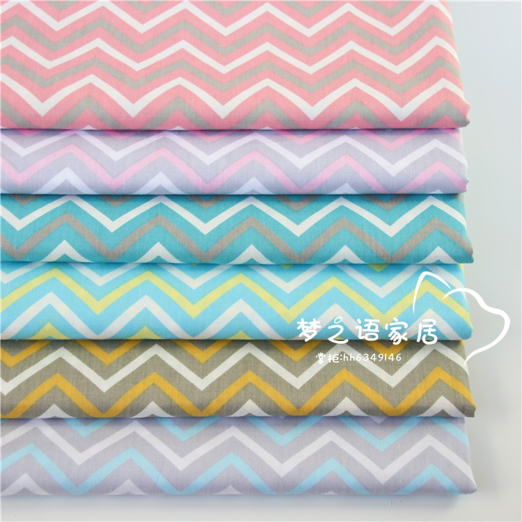 Small wave all cotton twill handmade cotton clothing curtain bed fabric processing