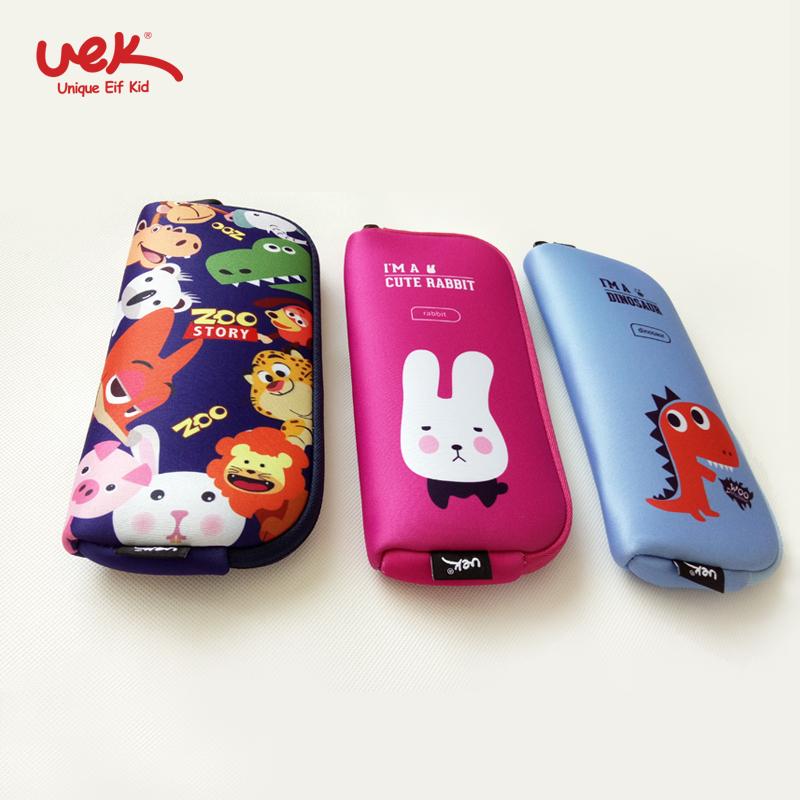 儿童小学生笔袋文具盒韩版可爱卡通3D大容量零钱包收纳化妆包