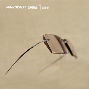 marcwalks近视眼镜 眼镜架眼镜框男女无框眼镜钻石切边眼镜加工费