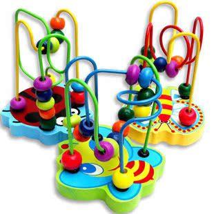 Мини-мелких животных вокруг bead лабиринт деревянные Развивающие игрушки детей orbit baby бисера дошкольное образование 1-3