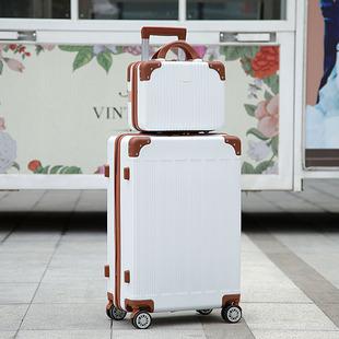2019春新款萬向輪拉桿箱子母行李箱女大容量旅行箱男密碼箱皮箱
