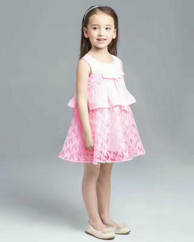 Foreign trade childrens wear brand original single childrens new sleeveless princess dress girls Vest one-piece skirt authentic