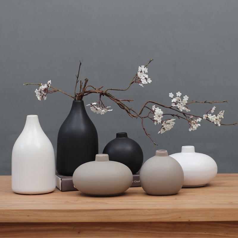 特价包邮日式禅意陶瓷花瓶 现代中式家居古董架电视柜装饰品摆件