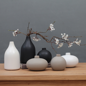 包邮日式禅意陶瓷花瓶 现代中式家居古董架电视柜装饰品摆件