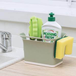 厨房小沥水篮塑料桌面收纳盒水槽放抹布海绵置物架子钢丝球沥水架
