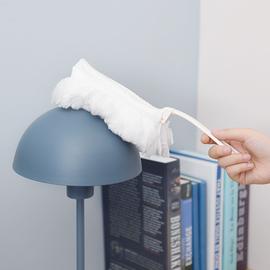 日本白色静电除尘掸家用清洁掸可伸缩长柄可弯曲刷头家务清洁工具图片
