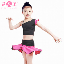 2015 new girls Latin dance suit uniforms table costumes you new children's ballet skirt coat