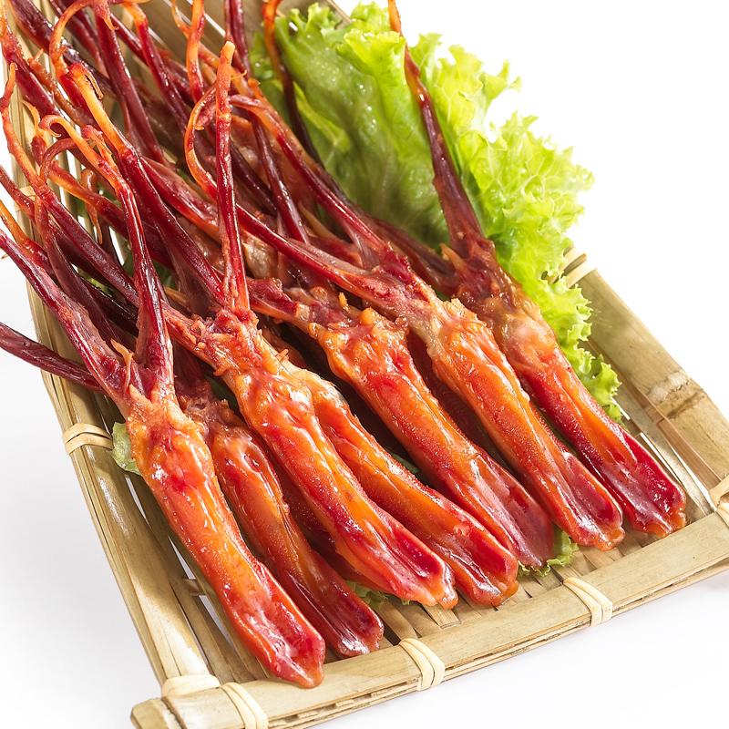 温州特产小吃酱香鸭舌香辣鸭舌头独立散装100g克原味卤味休闲零食