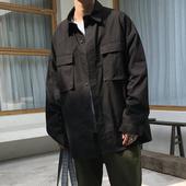 男宽松ulzzang日系复古原宿风休闲潮流工装 衬衣外套 长袖 衬衫 秋季
