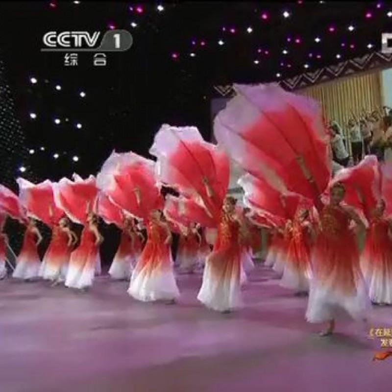 盛世花开大型舞蹈道具牡丹花瓣开场舞伴舞扇子阳光路上表演大花瓣
