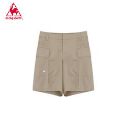 【20新品】乐卡克法国公鸡时尚阔腿裙裤设计运动梭织休闲短裤女