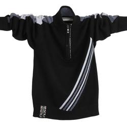 男生半高领拉链毛衣男学生韩版帅气青少年羊毛衫初中生潮流针织衫