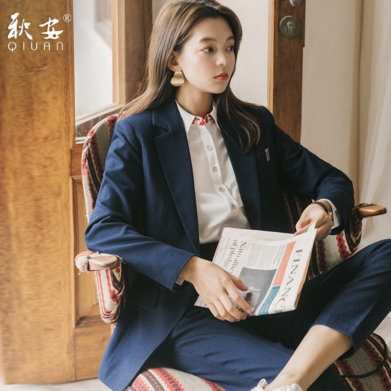 Western suit women suit professional dress new style in spring and autumn 2020 leisure formal dress women suit college student interview
