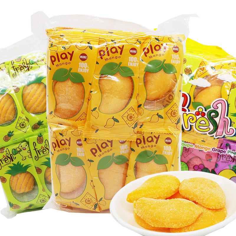 一件代发俄罗斯风味play芒果软糖嗨芒菠萝果汁软糖4袋*500g 包邮