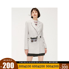 绫致ONLY新款含羊毛收腰显瘦休闲炸街西装外套女119108517