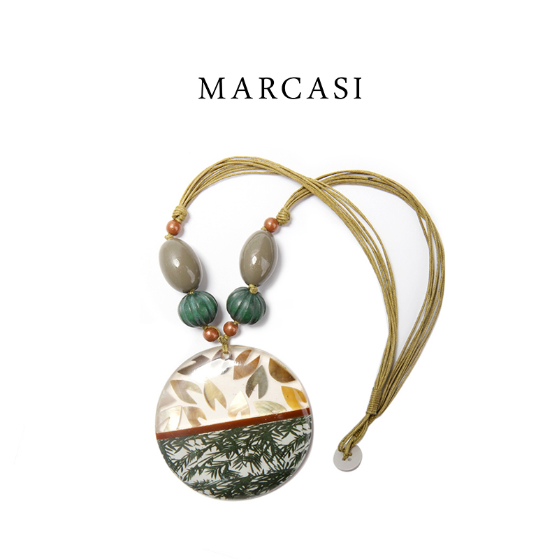 Marcasi Necklace European and American style jewelry womens aesthetic simple holiday creative accessories large specification new products