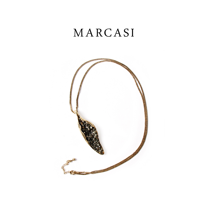 Marcasi Necklace female designer original jewelry simple aesthetic creative jewelry sweater chain Long Necklace