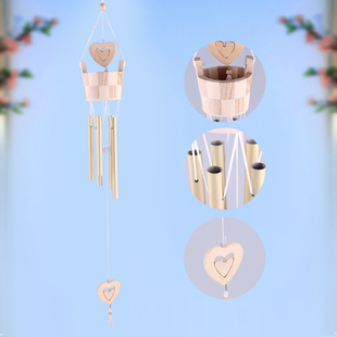 水桶爱心铝管风铃挂饰卧室房间日式创意女生挂饰小清新生日礼物