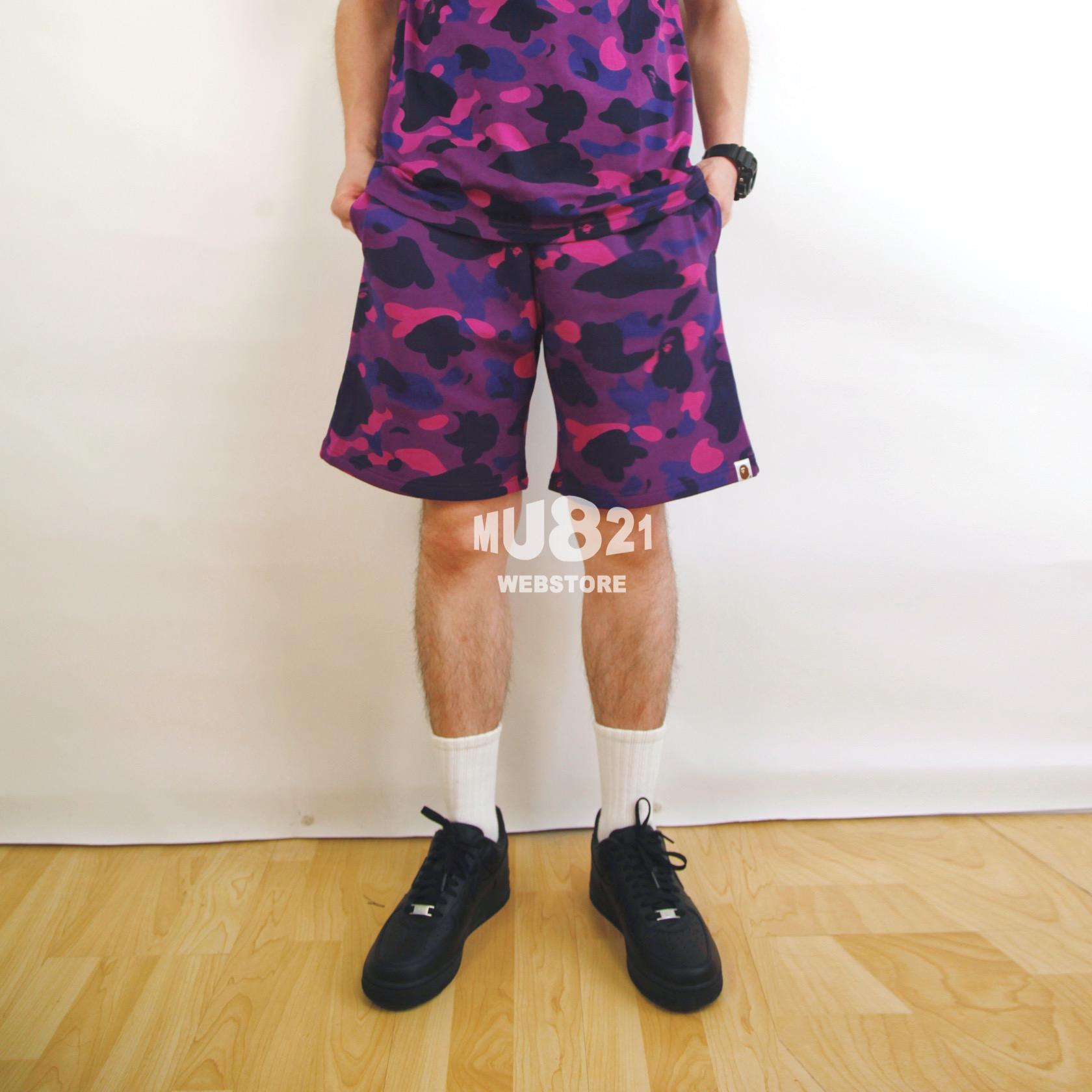 MU821现货 BAPE COLOR CAMO SWEAT SHORT 迷彩棉毛圈料短裤休闲裤