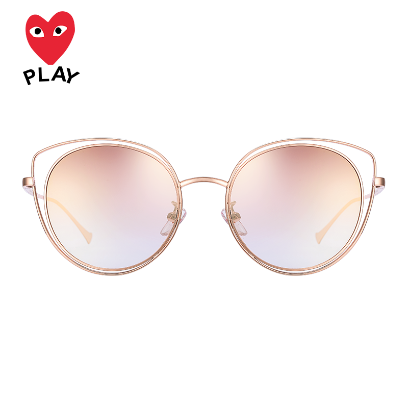 Sichuan jiubaoling 2019 new Korean Polarized Sunglasses female cat ears butterfly shaped metal sunglasses personality long face 3915