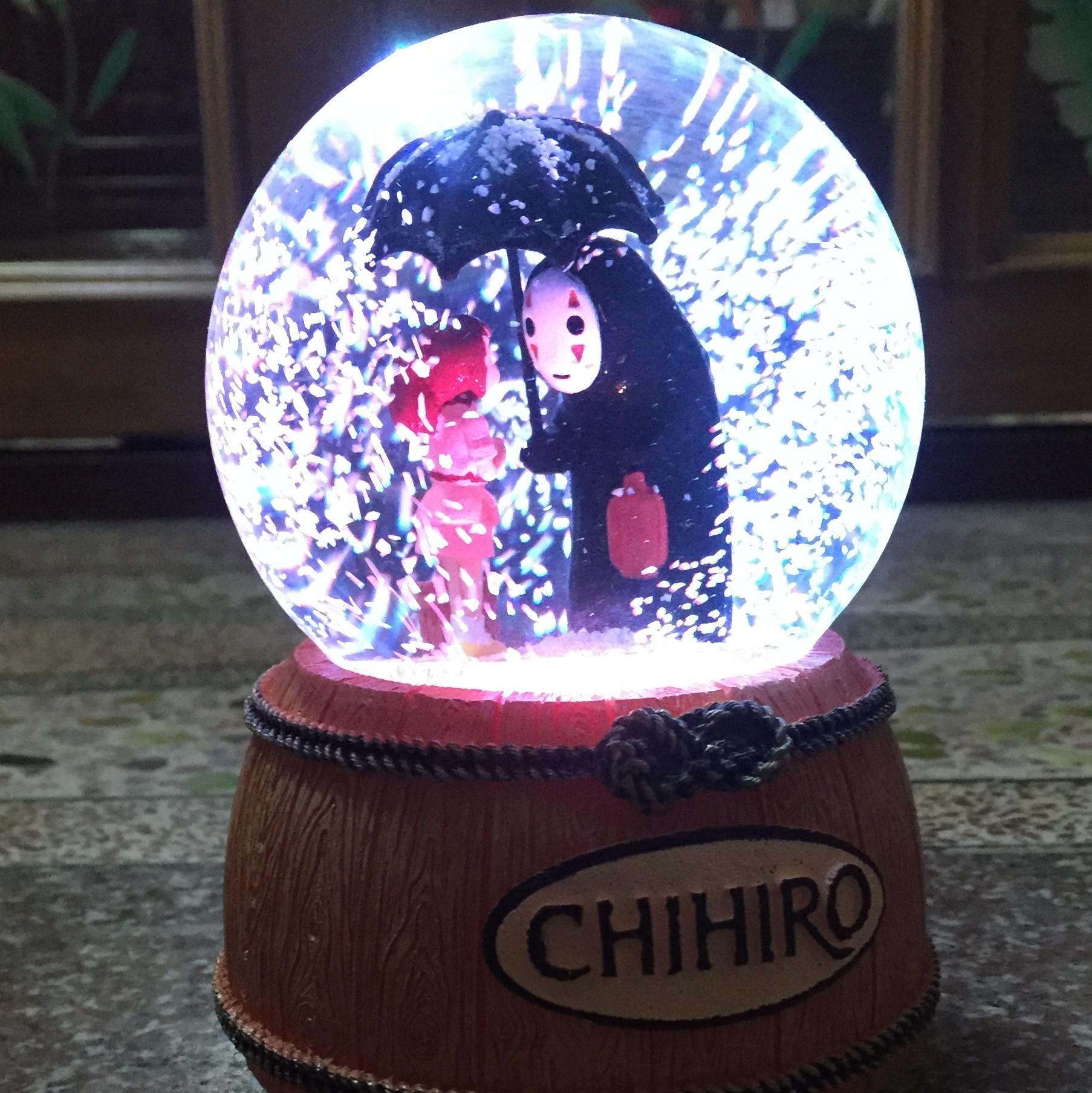 Hayao Miyazakis decorations, snowflakes, crystal tiktok, music box, hand shaking voice, red girls birthday gift
