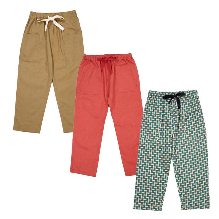 你好夏天 萝拉宝贝现货 英国 caramel CBC 19SS男女童复古休闲裤