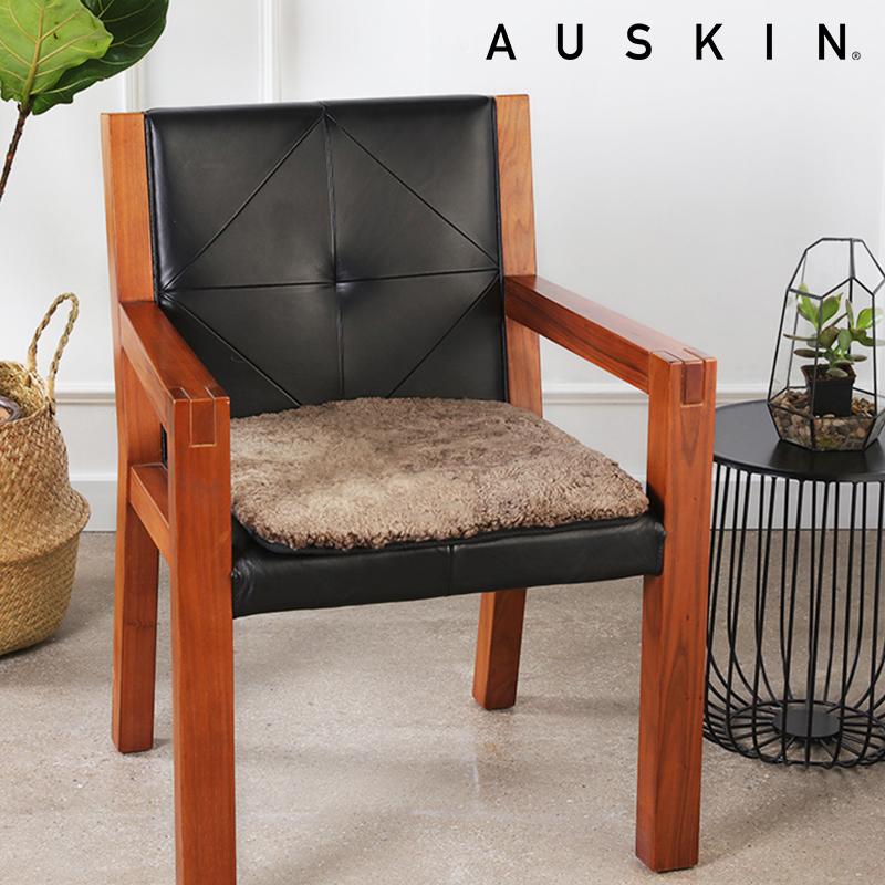 四季通用羊毛椅子家用坐垫 办公餐椅电脑椅红木太师椅防滑 椅座垫