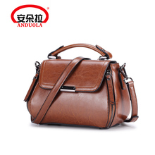 Andola Single Shoulder Bag Girl 2019 New Fashion Genuine Leather Bag Restoration Doctor Bag Hand-held Slanting Cowskin Bag