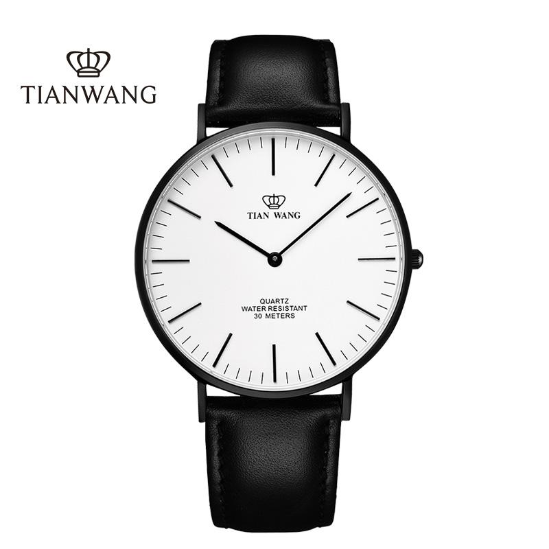 天王表情侣皮带石英手表休闲男女手表抖音同款3851