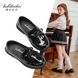 2020新款儿童豆豆女童鞋子公主学生小皮鞋黑色真皮软底单鞋英伦风