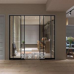 上海钛合金黑极窄框厨房阳台三吊轨