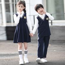 儿童校服春夏季套装学院风裙子小学生班服英伦幼儿园园服班服夏装