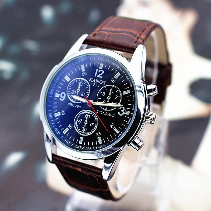 Korean mens sports fashion leisure real belt trend mechanical quartz watch student waterproof Korean simple watch