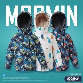 Moomin姆明童装儿童冬防水滑雪服厚中大童户外防风棉服100-170图片