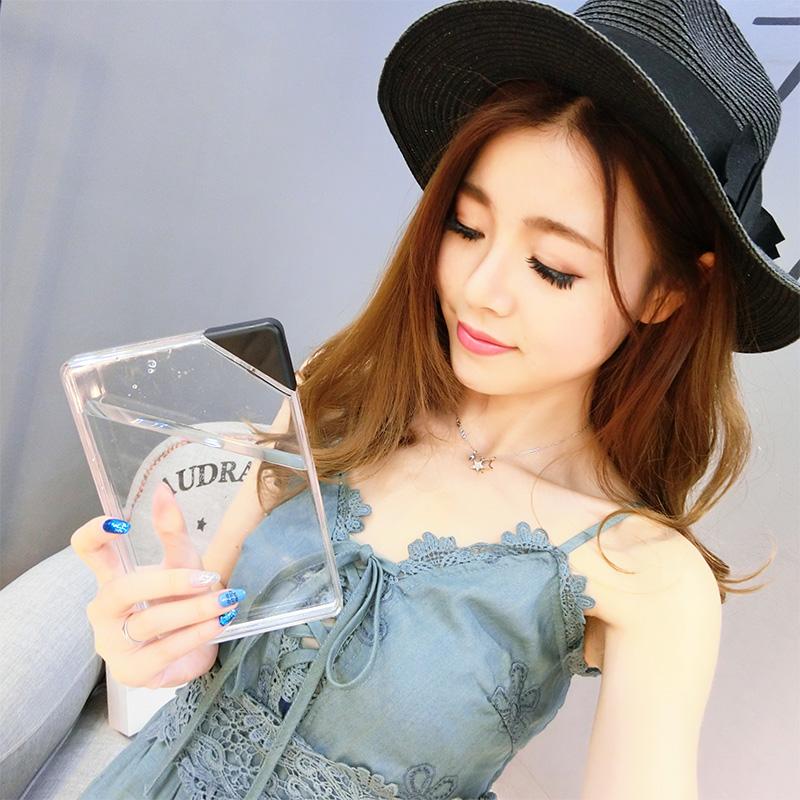 紙張水杯子A5透明水瓶扁平隨手防漏便攜塑料廣告杯學生