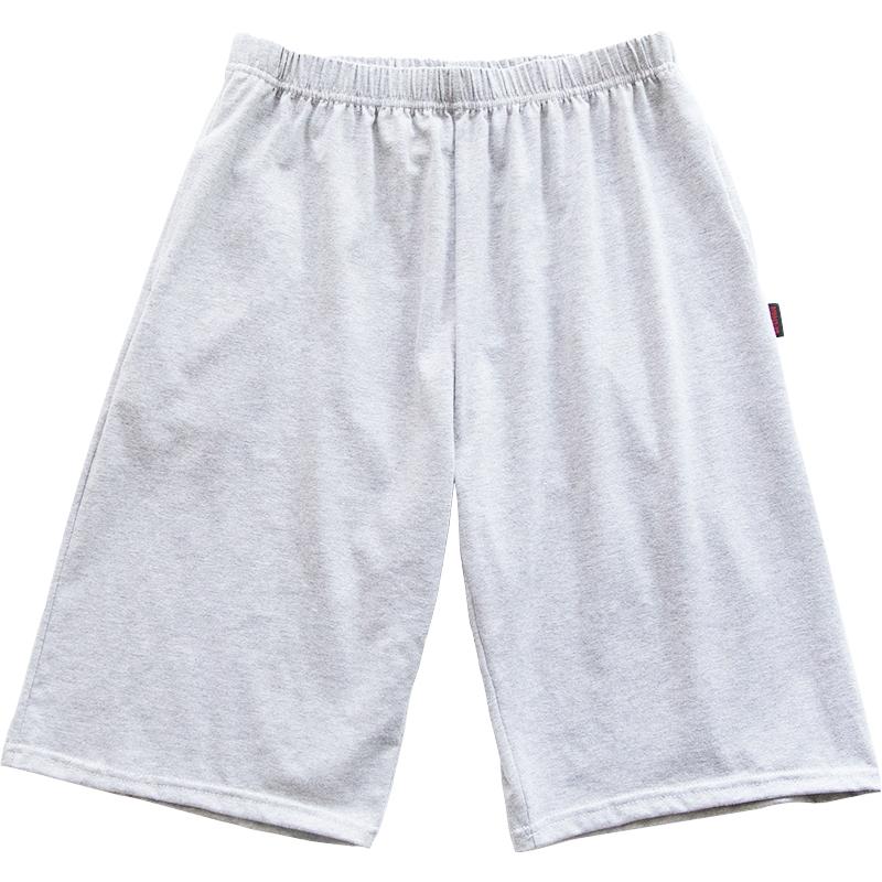 格子男士睡裤男夏季短裤纯棉莫代尔家居大码宽松五分薄款单条单件