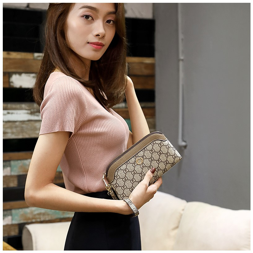 2020 new womens bag printing with interlayer in the middle