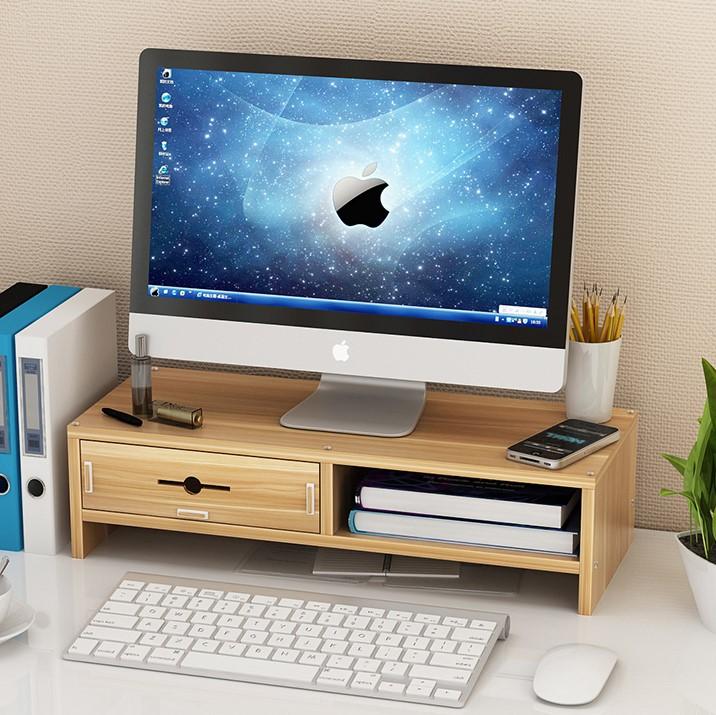 护颈电脑显示器屏增高架底座键盘置物整理桌面收纳盒子托支抬加高图片