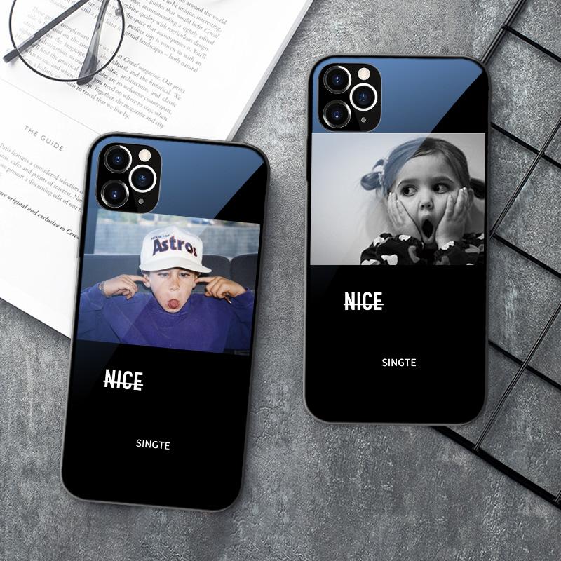 iPhone11手机壳情侣12pro苹果X欧美iPhonexsmax全包11promax玻璃7/8Plus防摔XR潮牌6S个性mini男XS外壳mas套6
