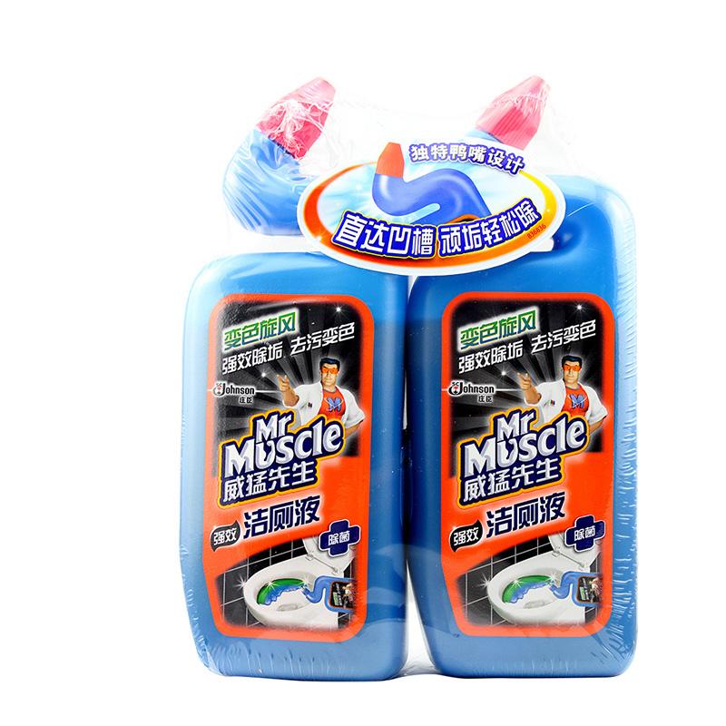 ~天貓超市~威猛先生 強效潔廁液雙包裝去汙 500g^~2 實惠裝
