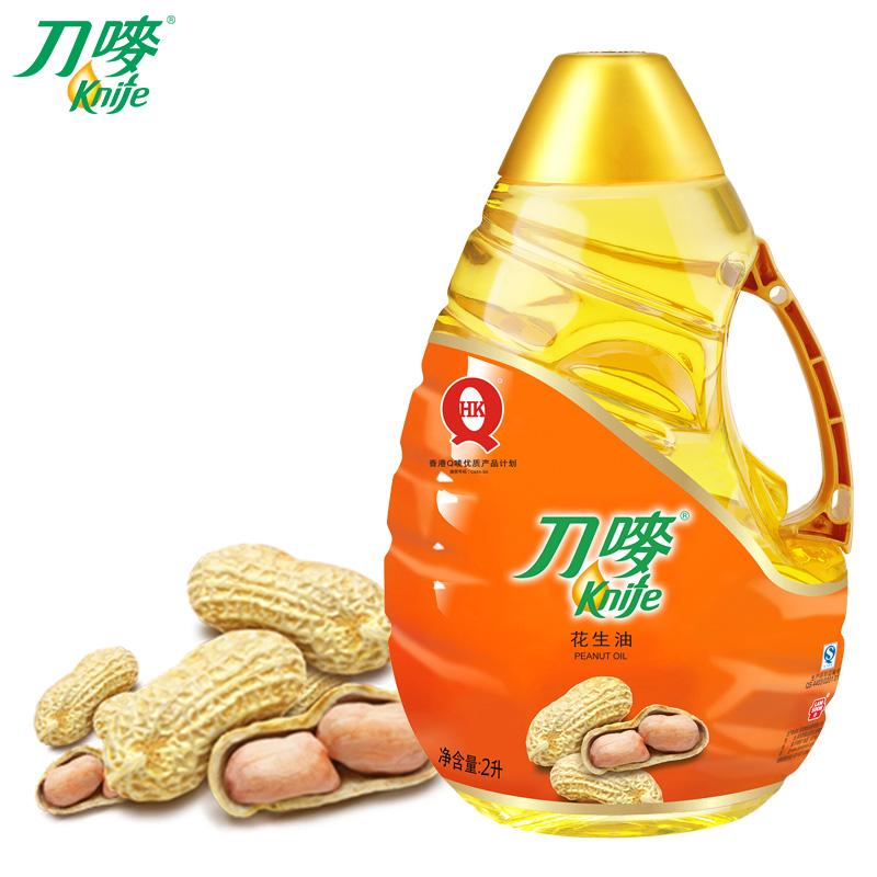 ~天貓超市~刀嘜花生油2l一級壓榨植物油低油煙新鮮家庭食用