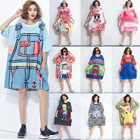 泰国潮牌加肥加大码女装超大连衣裙